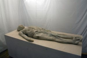 Małgorzata Wróbel-Kruczenkow; Obecna Nieobecność (fragment); instalacja multimedialna; 90 x 205 cm, 2014