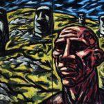 hubert bujak, autoportret, olej na płótnie, 150x200cm, 2014