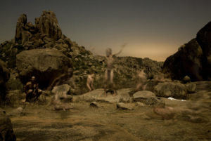 Adam Łach Lunaris, The Birth Of God II, Luna-gram Velvet series on canvas, 148 cm x 217 cm, 2007