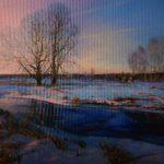 """Włodzimierz Bobryk, """"Post tenebras Lux. Winter"""", 80 cm x 110 cm, olej na płótnie"""