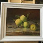 """Barbara Mazerant, """"Martwa natura"""", olej na płótnie, 23x24 cm"""