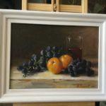 """Barbara Mazerant, """"Martwa natura"""", olej na płótnie, 24x32 cm"""