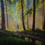 """Włodzimierz Bobryk, """"Post tenebras Lux. Spring"""", 80 cm x 110 cm, olej na płótnie"""