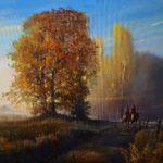 """Włodzimierz Bobryk, """"Post tenebras Lux. Autumn"""", 80 cm x 110 cm, olej na płótnie"""